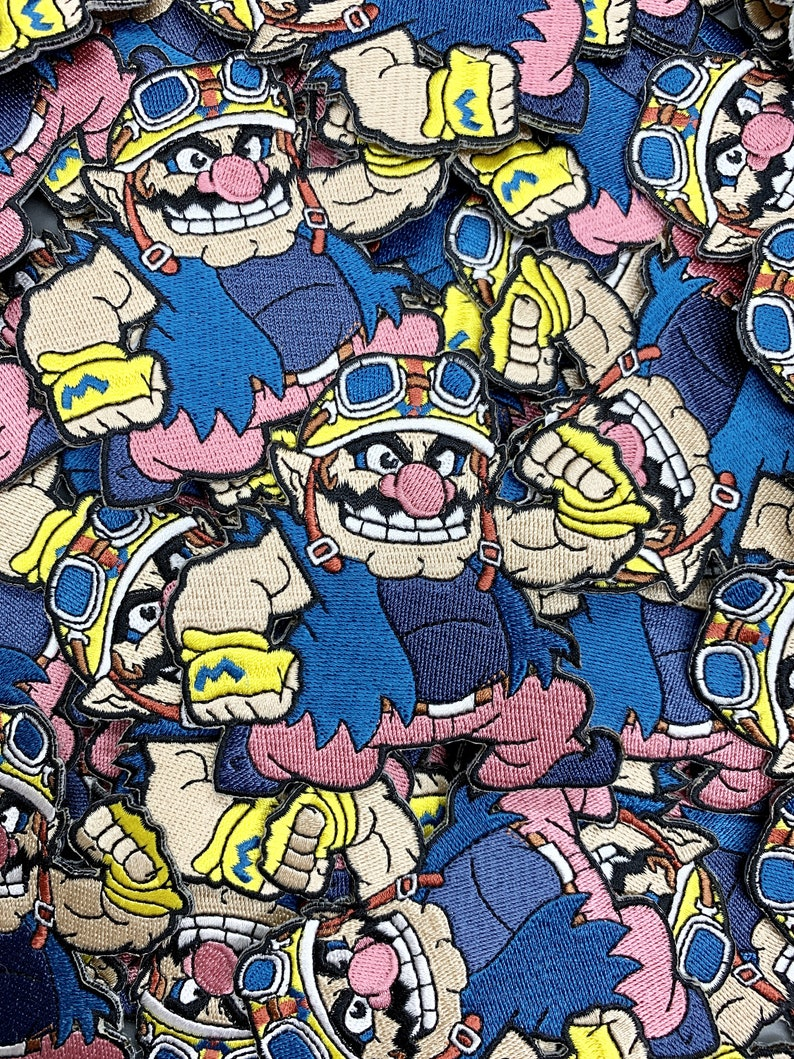 Super Mario Patches Super Mario Limited Patches Custom Patch Wario Custom Embroidered Iron-OnSew-On Patch Patches Custom Patches