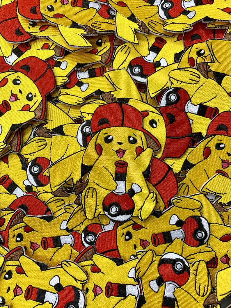 PikaBong Pikachu Smoking Bong Pokemon Custom Embroidered Iron-On/Sew-On  Patch, Patches, Limited Edition Patch, Custom Patch, Custom Patches