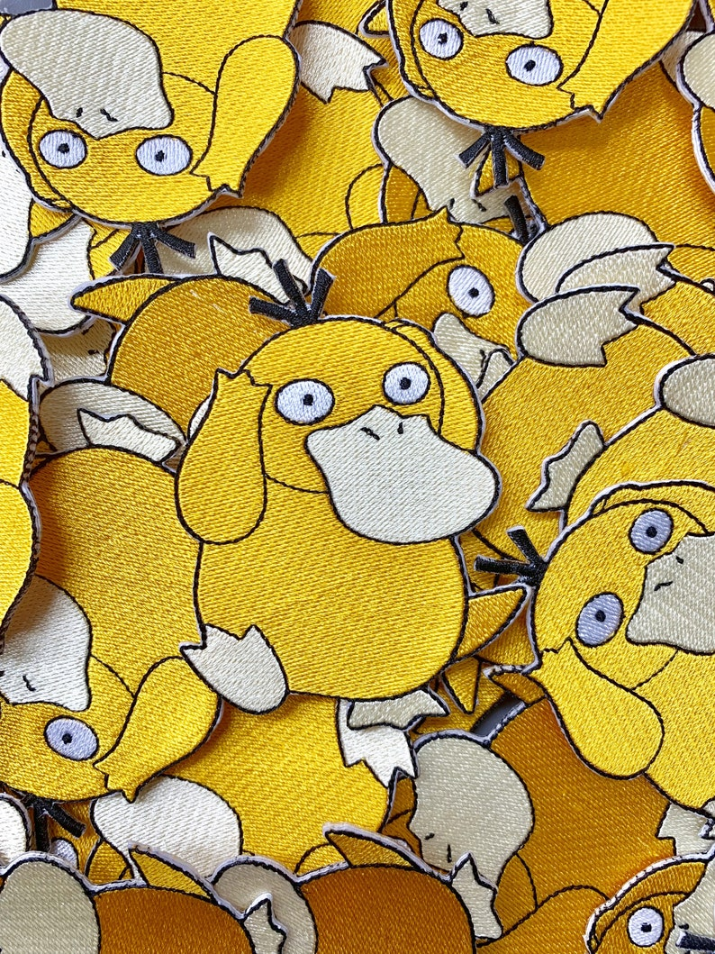 Psyduck Pokemon Custom Embroidered Iron-On/Sew-On Patch, Patches, Limited  Edition Patch, Custom Patch, Custom Patches, Pokemon Patches
