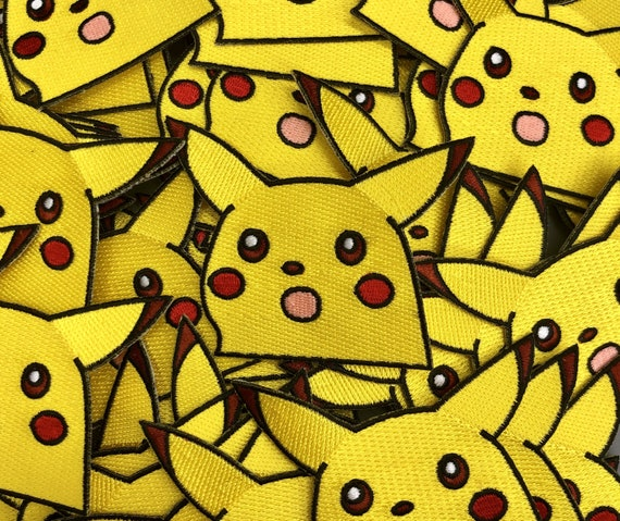 Surprised Pikachu Meme Pokemon Custom Embroidered Iron-On/Sew-On Patch,  Patches, Limited Edition Patch, Custom Patch, Custom Patches