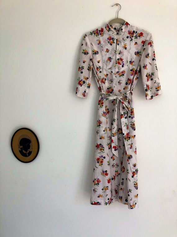 Vintage prairie dress floral button up