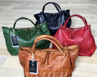 26bdedb11 Soft Italian Leather Handbag, Leather handbag, Italian Handbag, Casual  Handbag, Multi-use bag, leather crossbody bag, leather shoulder bag