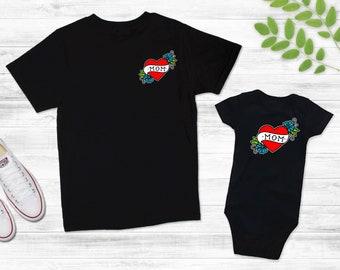 ORGANIC EARTH MOMMA Tattoo Baby Bodysuit Romper or T-shirt