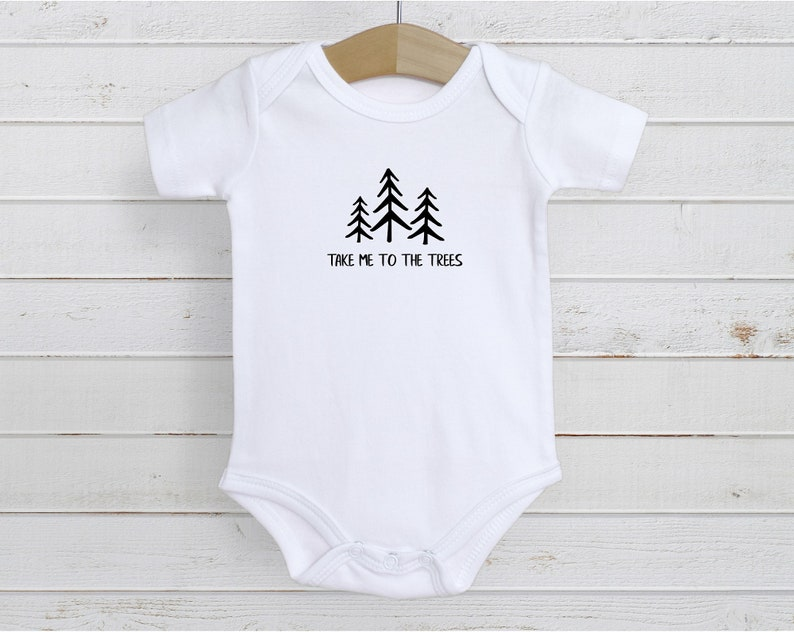 Camping Baby Romper Little Camper Take Me to the Trees Baby Bodysuit Outdoor Baby Camping Baby Tree Infant Bodysuit