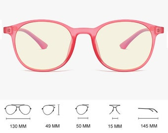 Pink Clear Transparent Blue Light Blocking Glasses Office daytime computer gaming glasses anti blue