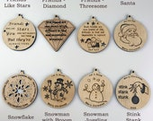 Laser Engraved Ornaments