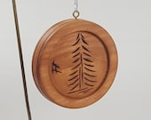 Ornament - Wood Burned Tree on Disk