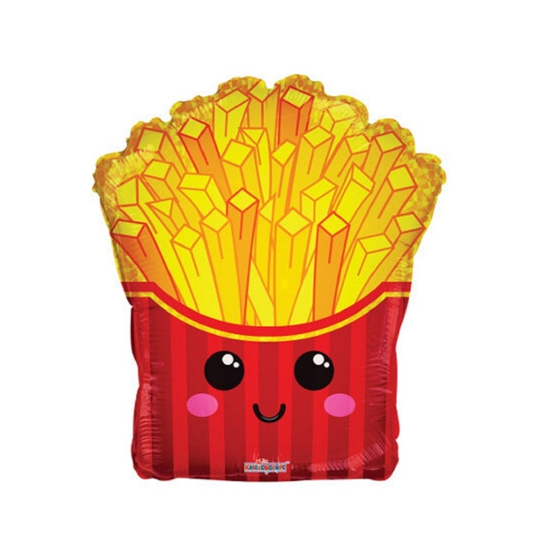 French Fries Shaped Novelty Party Balloon Decoration Funny Cute Kawaii Carnival Junk Food