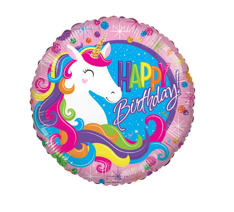 Themed Party Decoration Prop Rainbow Kawaii Gift Magical Unicorn Happy Birthday Stylish Balloon