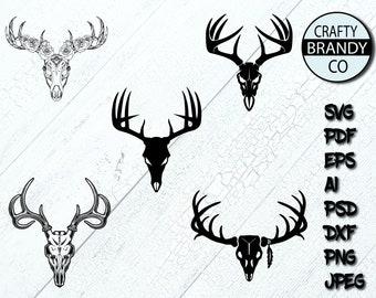 Deer silhouette logo | Etsy