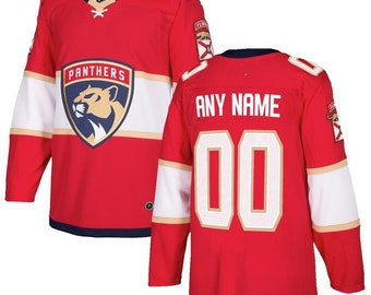 afeb5aca6 Custom personalized Florida Panthers ice hockey jersey white/red 2 colors  available