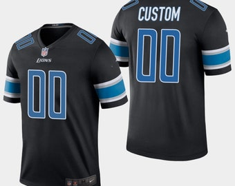 540cb7b39 Custom personalized Detroit football jersey black/White/blue 3 colors  available