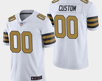 af6691026bf Custom personalized New Orleans football jersey white/black 2 colors