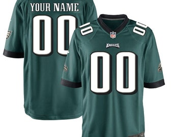06a57009e Custom personalized Philadelphia football jersey black White green 3 colors  available