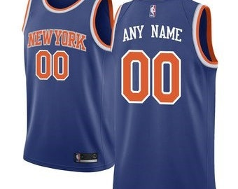 d5fa7037f59b Custom New York Knicks basketball jersey WHITE blue 2 colors available