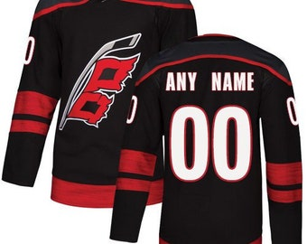 f2b85c2df Custom personalized Carolina Hurricanes ice hockey jersey white/black/red 3  colors available