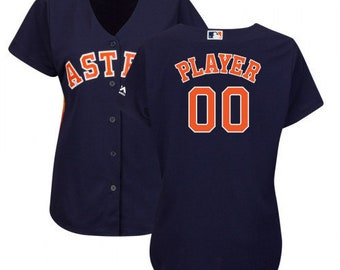 8b7278248 Custom personalized Women s Houston Astros baseball jersey  gray blue white orange 4 colors available