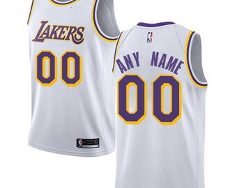 5ce8f2953bf Custom Los Angeles Lakers basketball jersey 4 colors available