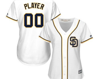 d01cf17f6 Custom personalized Women s San Diego Padres baseball jersey white Blue 2  colors available