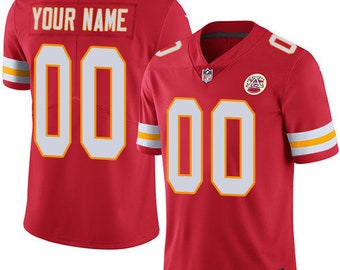 d3444ab68ec Custom personalized Kansas City football jersey red/White 2 colors available