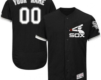 4ac57ff949e Custom personalized Chicago White sox spring jersey black
