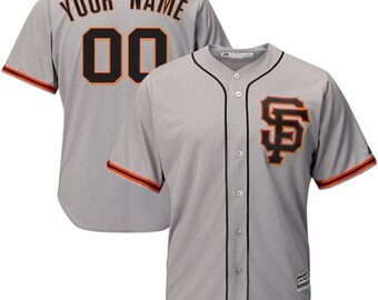 8729808decd Custom Mens   Youth San Francisco Giants Cool base jersey Cream black gray  3 color available
