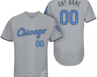 dcaca4f29 Custom personalized Chicago White Sox Father s jersey gray