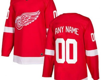 7b9d61fd9 Custom personalized Detroit Red Wings ice hockey jersey white/red 2 colors  available