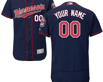 7e2f09ad2 Men's Custom Minnesota Twins flex base jersey blue/red 2 color available