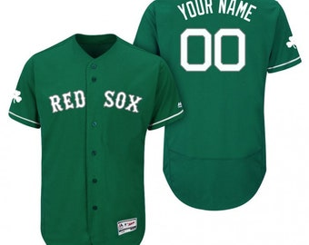 43f08ee75 Custom personalized Boston Red Sox St.Patrick's day green jersey