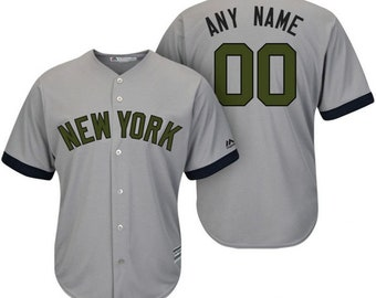 dc7a373b2b9 Custom personalized New York Yankees Memorial Day jersey gray