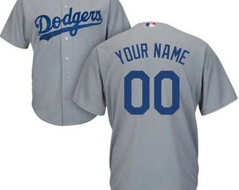 873463620 Custom Mens   Youth Los Angeles Dodgers Cool base jersey white blue gray 3  color available
