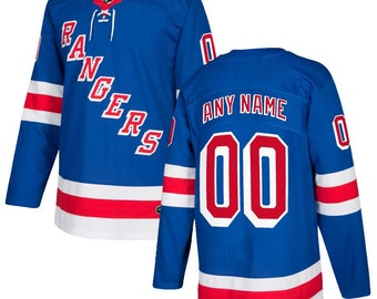 f54b6640d48 Custom personalized New York Rangers ice hockey jersey white/Blue 2 colors  available