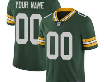 d03884062 Custom personalized Green Bay football jersey green/White/yellow 3 colors  available