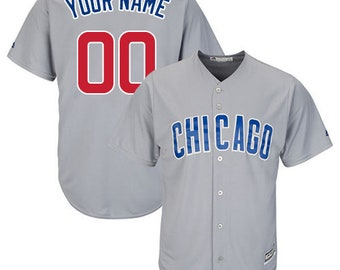 3ec94db6557 Custom Mens   Youth Chicago Cubs Cool base jersey white blue gray 3 color  available