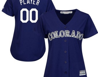 2c5273c9a Custom personalized Women s Colorado Rockies baseball jersey  white Gray Blue 3 color available