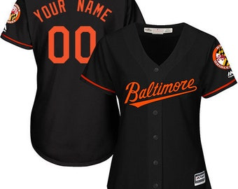 51279ccf9f0 Custom personalized Women s Miami Baltimore Orioles baseball jersey  gray white black 3 colors available