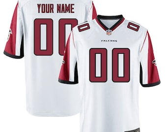af4d777e Custom personalized Atlanta football jersey white/black/red 3 colors  available