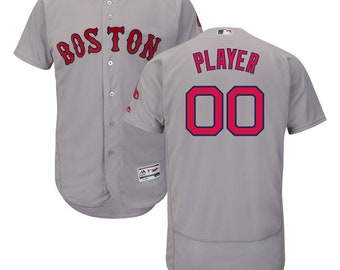 58c5773a2 Custom Mens Boston Red Sox flex base jersey white/blue/Gray 3 color  available