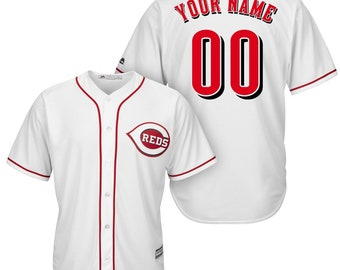 adbe30454 Custom Mens   Youth Cincinnati Reds Cool base jersey white Gray RED 3 color  available