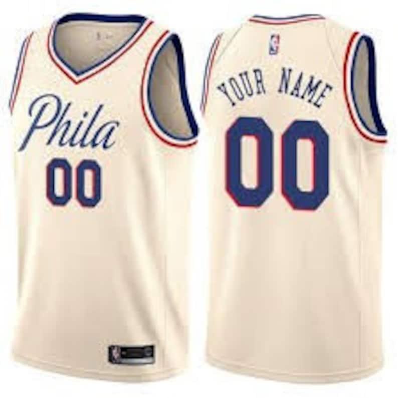 Custom Philadelphia 76ers basketball  jerseys 4 colors available