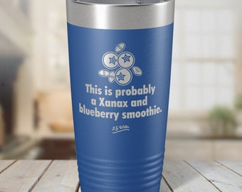 Carpe Noctem Laser Etched Insulated Stainless Steel Tumbler