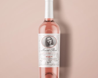 Moira Rosé Fruit Wine Adhesive Label