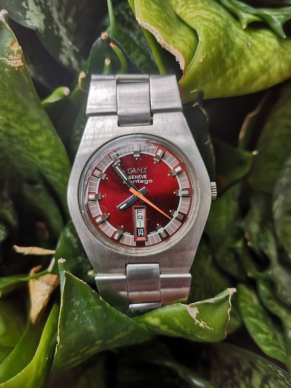 Camy Montego Maroon Face watch