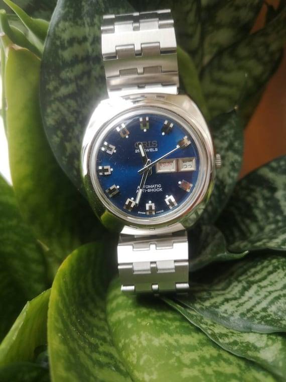 Oris Navy Blue Face watch