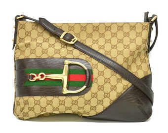 492612fd630f72 Authentic Gucci Sherry Line GG Shoulder Bag