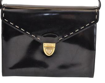 93d01f5053 Authentic Prada Enamel Shoulder Bag