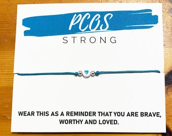 PCOS Strong Bracelet   Polycystic Ovarian Syndrome Awareness Bracelet   PCOS Warrior Jewellery   Women's Health Gift   Gynaecology Present