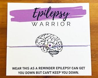 Epilepsy Warrior Bracelet   Epilepsy Awareness Bracelet Purple   Epileptic Seizures, Epileptic Fits, Neurological Disorder   Spoonie