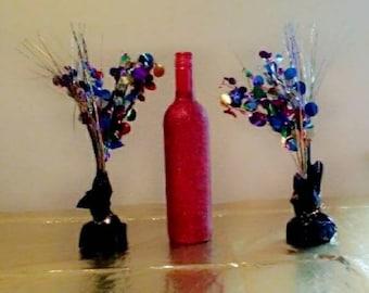Glitter Wine Bottles Etsy